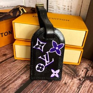 Louis Vuitton custom painted Name tag/luggage tag